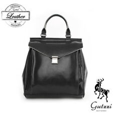 Gutzzi Classic Women Genuine Cowhide Leather Summer Schoolbag Work Backpack Gift