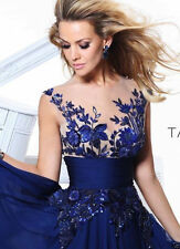 New Blue applique Prom Gown Evening/Formal/Party/Cocktail/Prom Dress