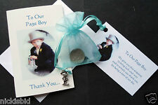 WEDDING FAVOURS CARD GIFT & TIBETAN SILVER CHARM - BEST MAN BRIDESMAID PAGE BOY