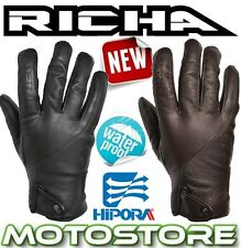 RICHA CORDOBA LEATHER MOTORCYCLE MOTORBIKE GLOVES NEW SHORT SPORTS BLACK BROWN