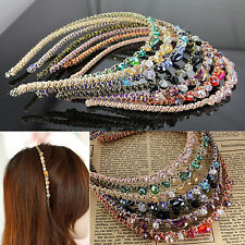 Hair Women Retro Rhinestone Crystal Headband Barrette Accessories Hairpin Clip