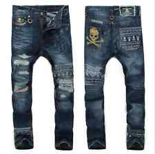New Men`s National Style Vintage Stylish Designed Trousers Casual Jeans Pants