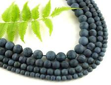 6、8、10、12mm Rough Blue Stone Round Beads 15.5'' Very Highquality