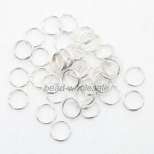 4,5,6,8,10,12MM Gold/Silver/Copper/Bronze Plated Metal Double Split Jump Rings