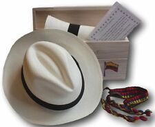 NEW GENUINE ROLLING PANAMA HAT + GIFT BOX CUENCA QUALITY FEDORA STYLE ALL SIZES