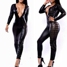 Women Sexy Bodycon Bandage Jumpsuits Bodysuit Fashion Clubwear Rompers Black