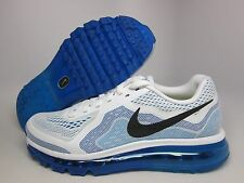 NEW MENS NIKE AIR MAX 2014 RUNNING [621077-104]  WHITE//BLACK-PHOTO BLUE-COBALT