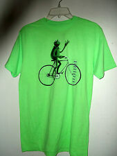 NEW MUPPETS T SHIRT by DISNEY KERMET ON A BICYCLE  size  L