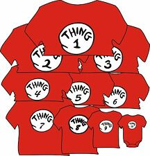 THING 1 THING 2 Dr. Seuss halloween costume T SHIRTS