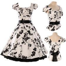 NEW Womens Vintage Rockabilly Retro Swing 50s 60s pinup Housewife Dress S M L XL