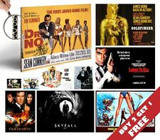 ALL 007 JAMES BOND MOVIES Poster Options A4 Photo Art Print Home Wall Room Deco
