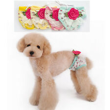 New Small Cat Dog pet Diaper Physiological Pant Clothes Underwear big Rose Shirt