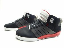 SUPRA SKYTOP III BLACK RED CEMENT MEN SHOES SIZE 11 & 12