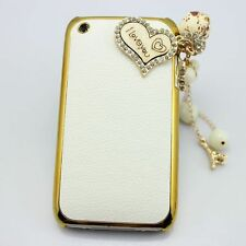 1x 3D bling iloveyou leather diamond hard back case cover htc iphone ipod nokia