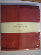 Williams Sonoma Hotel Tablecloth - CRIMSON RED - NEW - Never Been Used