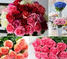 20 Head Real Latex Touch Rose Flowers For wedding And Home Design Bouquet new e