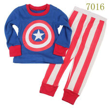Baby boys'  Kids' Clothing Sleepwear Long T-shirt + pants Suit  Nightwear 7016UK