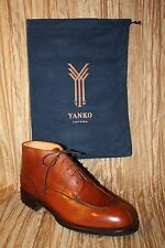 Men's NEW Genuine Leather Dress Boots Handmade in Spain by YANKO Retail $450.