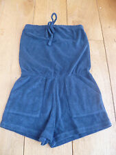 AMERICAN APPAREL LOOP TERRY TOWELLING BEACH LOUNGE ROMPER PLAYSUIT BLUE CORAL S