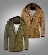 Free Post Sale Mens Safari Military hip-length JEEPfalow Parka Jacket S-XL