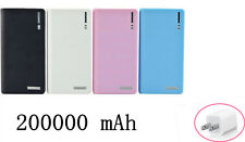 200000mAh Portable External Power Bank Backup Battery Charger For HTC LG+Adapter