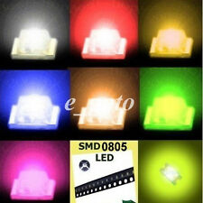 100pcs 0805 Red Blue Green Yellow Orange Super Bright LED LEDs Lamp Light SMD