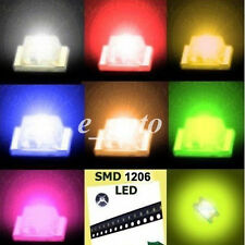 100pcs 1206 Red Blue Green Yellow Orange Super Bright LED LEDs Lamp Light SMD