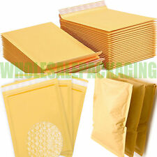 ECONOMY GOLD BUBBLE LINED ENVELOPES MAILERS (JIFFY STYLE) BAGS *ALL SIZES*