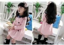1pcs NEW pink baby clothes kids girls dress tops outfits coat for 2-7 years R16