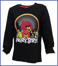 NEW !!! ANGRY BIRDS, BLACK  LONG SLEEVE TOP, AGES 4-10 YEARS  AVAILABLE
