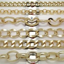Metal Chains Gold plated chains leather craft DIY extension bracelets necklace