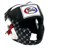 Fairtex Muay Thai Kick Boxing MMA K1 Super Sparring head guard gear HG10  Black