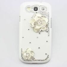 3D bling flower cute diamond case cover FOR Samsung Galaxy s s2 s3 s4 s5 note 3