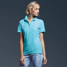 Anvil Womens Double Pique Polo Shirt Ladies Short Sleeve Top Golf Tennis New