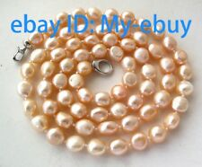 """Pink Baroque Freshwater Pearl Necklace 14K GP 36"""""""