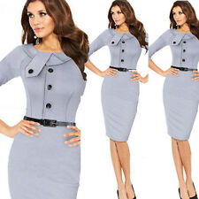 New Fashion Womens Slim Business Career Office Party Evening Pencil Wiggle Dress