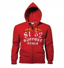 Hells Angels Support 8132 Flaming sculls hooded sweatshirt red