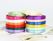"25 Yards New 2/5"" Satin Ribbons Craft Wedding Banquet Party Decor 14 Colors"