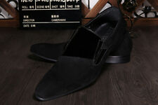 Men's Genuine Cowhide Leather Shoes Dress Formal Wedding Party Shoes Black