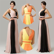 Formal Long Evening Prom Dress Elegant Bridesmaid Party Ball Gowns US 2 4 6 8+++