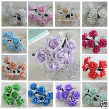 72pcs Multi-Color Artificial Flowers Wedding Table Centerpieces Wholesale Lots