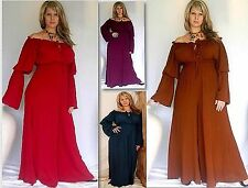 @K835 CHOOSE COLOR MISSES/PLUS JUMPSUIT PEASANT LONG SLEEVE RAYON MADE TO ORDER