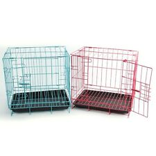 Low Carbon Steel Wire Pet Cage Kennel Puppy Dog Folding Steel Crate USA Seller