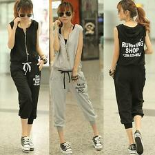 Fashion Girl Women Casual Sleeveless Harem Pants Comfy Overall Jumpsuit Romper