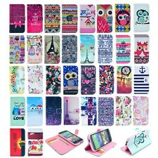 Flip Leather Wallet Card Rubber Cover Case Pouch Stand For HTC ONE 2 M8