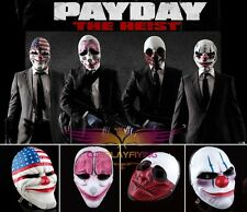 PAYDAY 2 Resin Mask Four Unique Heist Joker Cosplay Mask For Cosplay Christmas