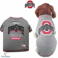 NCAA Pet Fan Gear OHIO STATE BUCKEYES Dog Shirt for Dogs BIG SIZE XS-XL