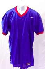 College Authentic Blank Football Jersey Royal with Red Trim