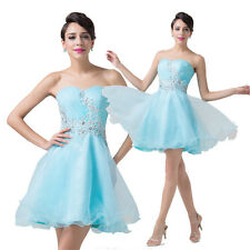 CHEAP! Masquerad Prom Gown Evening Bridal Pageant Party Short A-Line Swing Dress