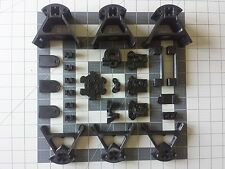 Mini Kossel 3D Printer: Printed Parts - Black PLA & ABS - Choose You Carriages